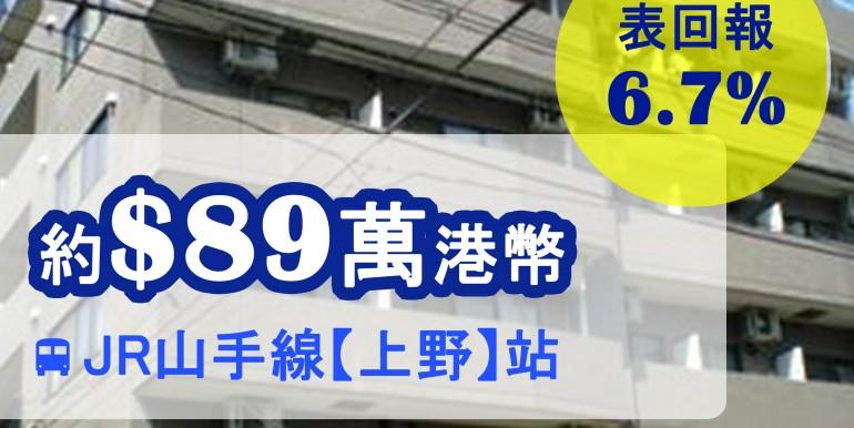JR山手線【上野】站