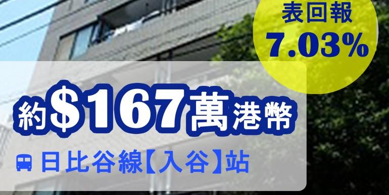 日比谷線【入谷】站